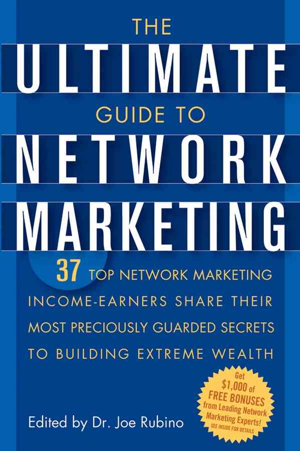 The Ultimate Guide to Network Marketing By Rubino, Joe (EDT)